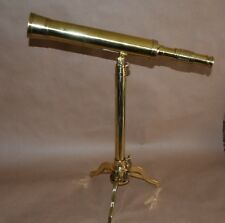 Victorian Style nautical brass Desktop / Tabletop telescope with tripod Stand