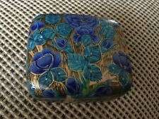 Vintage Hand Made Lacquered Trinket Box - Made in Kashmir, India