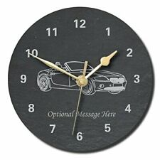 Z4 Design Slate Clock - Personalised with text of your choice (Large (300mm))