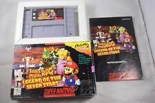 Super Mario Rpg Legend Seven Stars (Super Nintendo SNES) Complete in Box #1 GOOD