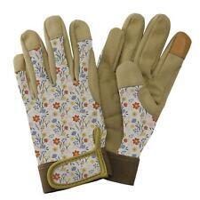 Kent & Stowe Ladies Premium Comfort Gardening Gloves Soft Meadow Flowers Cream