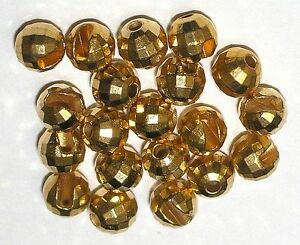 Tungsten Facetten Perlen, Wolfram Perlen, 20 Stk.