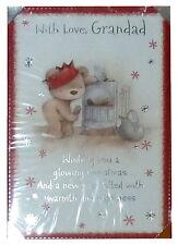 (171) singolo cartolina di Natale-Granddad-Bear
