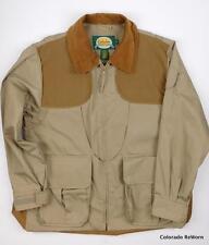 Cabelas Upland Sz M Regular Fowl Game Hunting Jacket Khaki Brown Color Unlined