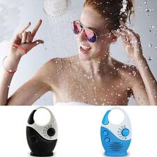 Mini Portable AM FM Bathroom Shower Radio with Built-in Speaker Black