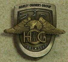 H.O.G. Harley Owners Group 20th Anniversary Pin 1983-2003 100th FREE SHIPPING