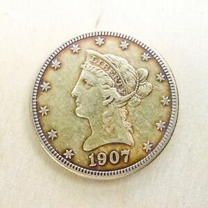 SUPERB 1907 S Liberty Head  $10 Ten Dollar Gold US Coin High Grade Bullion!