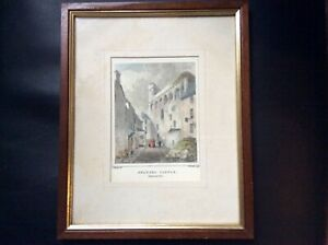 hand colouredlimited edition 378/500 colotype print Swansea castle