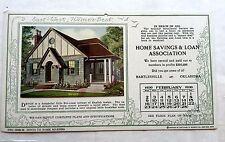 February 1930 Hame's Homes Advertising Calendar w/ New House Styles Devon Style