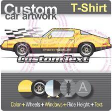 Custom T-shirt 79 1979 80 1981 81 Pontiac Firebird Formula 400 301 5.0 4.9 L 305