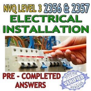 NVQ 3 Electrical Installation 2356 & 2357 Completed Coursework Help & Answers