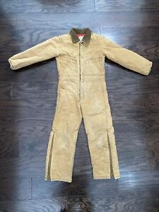 Vintage Key Imperial Farm Mechanic One Piece Suit Youth Size 8 Brown Coveralls