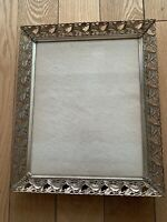 Amazing Antiques Metallic Gilded glassed picture frame 9.5x11.5 and 9.3x7.3 Inch
