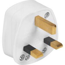 1 x WHITE 240v HOUSEHOLD PLUG UK 3 Pin 13A fuse fitted.  UK SELLER, FREEPOST