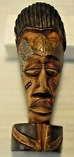 "Central American MASK ART 16"" Tall, Wood Handmade / Hand Crafted Vintage NICE"