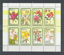 W EQUATORIAL GUINEA 1565A-1572A SHT FLOWERS PERFORATED SET SHEET