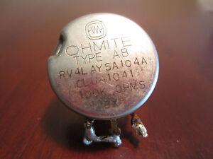 Ohmite Type Ab RV4LAYSA104A CLU-1041 100K Ohms Bx Potentiomètre