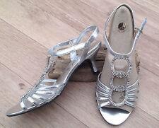 Women's Synthetic Kitten Mid Heel (1.5-3 in.) Strappy Shoes