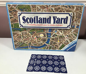 Vintage Scotland Yard Board Game Spare Replacement Parts 18 Start Cards FullSet