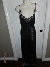 Vintage Made in California Nightgown Sheer Black Nylon Sm