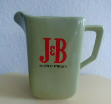J & B SCOTCH WHISKY Ceramic Pitcher Jug WADE ENGLAND Olive Green