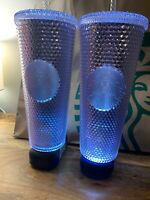 One Holiday Starbucks 2019 Venti Bling Platinum Silver Studded Cold Cup Tumbler