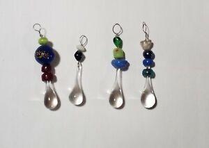 Decorative Glass Art Ruperts Water Drop Suncatcher Ornament Beaded window hanger