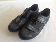 SHIMANO - BLACK CYCLING SHOES SIZE 44 EURO SPD - USED CONDITION