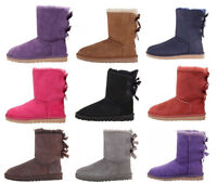 UGG Australia Women Bailey Bow Ankle High Boots Winter Snow Shoes NEW Authentic