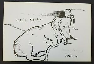 David Hockney Signed Little Boodge Lithograph Print