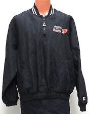 vtg DETROIT RED WINGS 90s Starter Jacket XL Stanley Cup Champ Black Pullover NHL