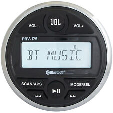 JBL PRV 175 AM/FM/Bluetooth Gauge Style Boat Radio Stereo Receiver with USB