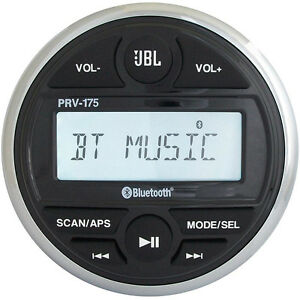 JBL PRV 175 AM/FM/Bluetooth Gauge Style Boat Radio Stereo Receiver with USB Port