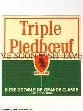 1960s Brouwerij Piedboeuf Triple V3 Label Tavern Trove