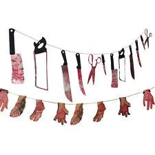 Жуткий для Вечеринки на Хэллоуин с привидениями висячий гирлянда вымпел баннер украшение k