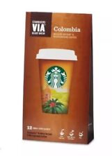 Starbucks Via Instant Coffee 12 Sachets flavour(Colombia)