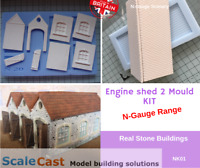N-Gauge Engine Shed 2 mould KIT For N-Gauge Model Railway Nk01