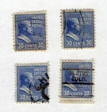 US Postage Stamps 4- 30 cent Roosevelt used, Scott's #830 (Set 2)