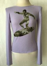 LUCIEN PELLAT-FINET Lavender, Camouflage surfer 100%Cashmere Crewneck Sweater. M