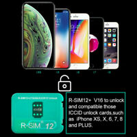 RSIM 12+ New 2019 Nano Unlock Card fits iPhone Xs/X/8/7/6/6s/5S 4G iOS 12 13