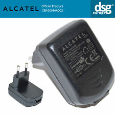BRAND NEW ORIGINAL ALCATEL CBA3008AA0C2 2PIN EU USB PLUG CHARGER 5V 550mA