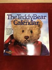 Grand Calendar 1986 Vintage Bear Plush Teddy Bear Collection Mint