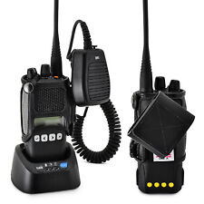 TAIT TP8100 Fire Police Two Way Radio Belt Clip Holster Black Leather, Belt Loop