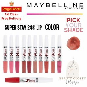Maybelline Super Stay Dual Lipstick 24H - Various Shades - BRAND NEW - UK Seller