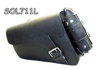 Black Leather Motorcycle SwingArm Solo Bag for Harley Davidson Sportster 711L