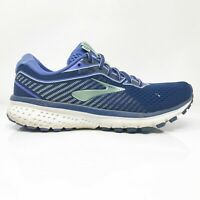 Brooks Womens Ghost 12 1203051B413 Blue Running Shoes Lace Up Low Top Size 7.5 B