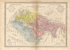 "ITALIAN COPPERPLATE  MAP - ""PAESI COGNOSCUTI DAGLI ANTIOCH"" - CESARE MAGGI (nd)"