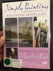 Simply Painting - Stunning Scotland - Frank Clarke Masterclass region 2 DVD (art