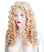 HUMAN HAIR Silk Top Indian Remi Remy Full Lace Wig Wigs Light Blonde Premium