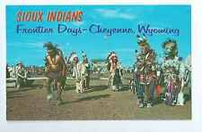 Cheyenne, Wyoming, Frontier Days, Oglala Sioux Indian Dancers- Postcard
